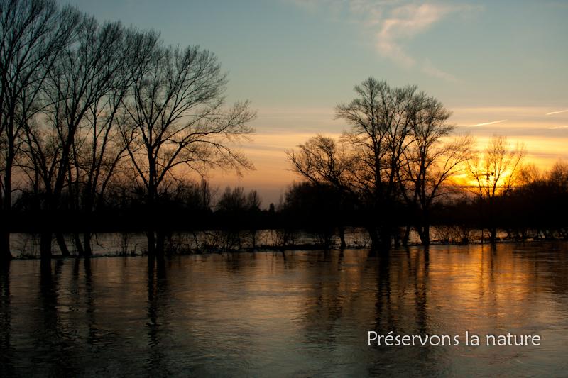 La Loire en décrue