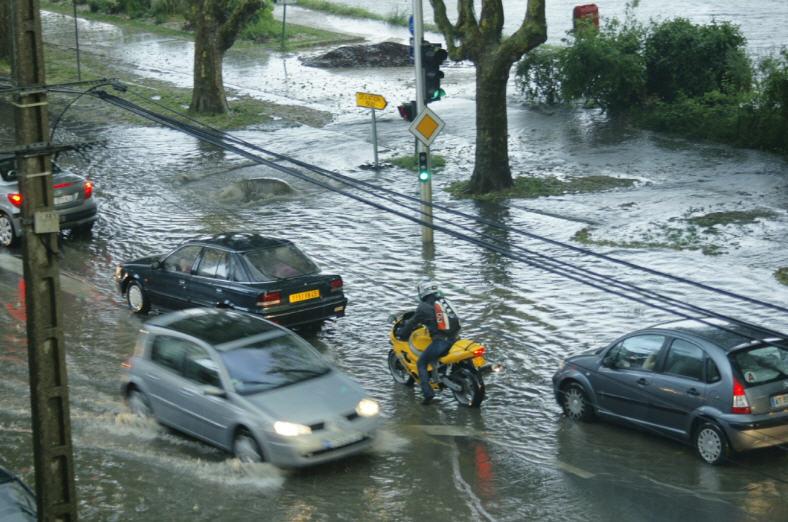 Le quai de la Madeleine constamment inondé lors de fortes pluies