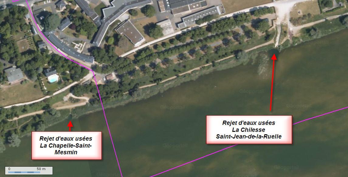 Rejet d'eaux usées à Saint-Jean-de-la-Ruelle et la Chapelle-Saint-Mesmin